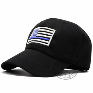 US flag Thin Blue Line Low Profile Cap American flag U hat Adjustable Baseball Ball Cap Support Police Unisex Adult