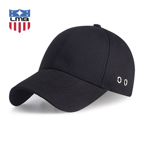 64325c01430f86 Round Hole Design Black Curved Brim Summer Unisex Casual Travel Sport Cot Snapback  Hats Male Baseball