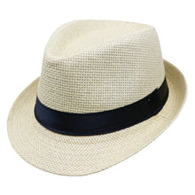 Load image into Gallery viewer, 2017 Hot sale Summer Style Child sunhat Beach Trilby Sun hat  Straw panama Hat For  boy girl  Fit For Kids Children 54 cm