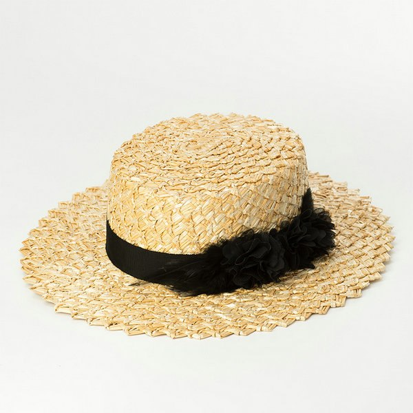 [La MaxPa] 2018 Summer Boater Hat Women Sun Hat Wheat Straw Hats for Ladies Fashion Hats  With Feather Trims