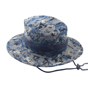 e95fc7ac644 Brand Military Accessories Summer Men Outdoor Washable Boonie Hats  Adjustable Camouflage Bucket Hats Cap Wholesale
