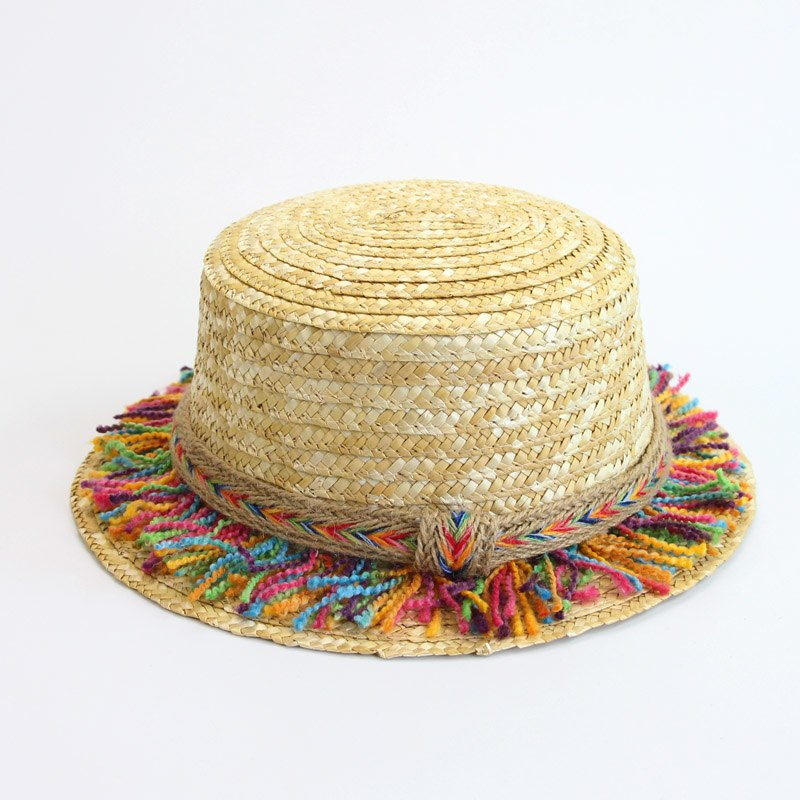 Lady Boater sun caps summer hats for women Flat Top Straw beach hat Panama Hat summer for women straw hat snapback gorras