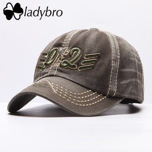 2020 Men Hat Cap Brand Washed Baseball Cap Letter Casual Adjustable Hat Male Retro Do old Style Cap Black Bone Man