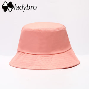 Spring Summer Women Hat Unisex Flat Cot Bucket Hat For Men Women Travel Sun Hat  Female Male Fisherman Cap Black 3c53b5bba619