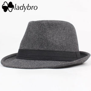 f7765684537 Warm Panama Hat Men Autumn Winter Hat Women Short Brim Fedoras Hat Male  Vintage Jazz Hat