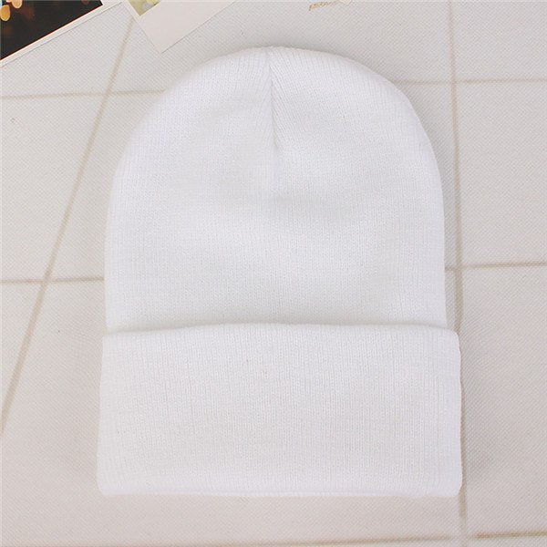 23Colors Solid Beanie Hat Women Unisex Knitted Winter Warm ... f61be7b47ae