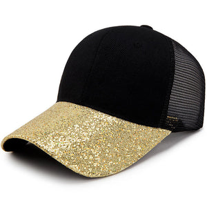 Bling Baseball Cap for Women Custom Design Glitter Baseball Cap Men Female  Sun Hat Snapback Trucker a0c3b6b157a9