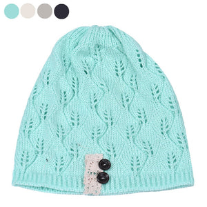 b8c8bbbcc437a Leaves Hollow Out Knitting Hat Fashionable Unique design Keep warm Wo Women s  winter knitted crocheted Leaves fur hats