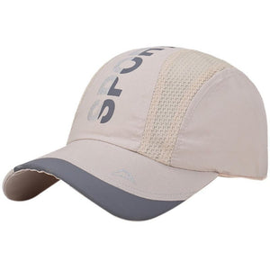 Letter Printed Baseball Cap Summer Airy Mesh Quick Dry Cotton Unisex Patchwork Hat Male Fishing Jogger Hiking Golfer Caps