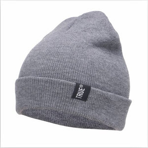 Letter True Casual Beanies for Men Women Fashion Knitted Winter Hat Solid Color Hip-hop Skullies Hat Bonnet Unisex Cap Gorro