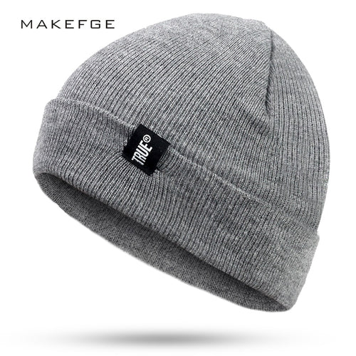 Letter True Casual TRUE Winter Casual Hip Hop Beanies Hat For Men Women Knitted Hats Crochet Ski Cap Warm Skullies Gorros