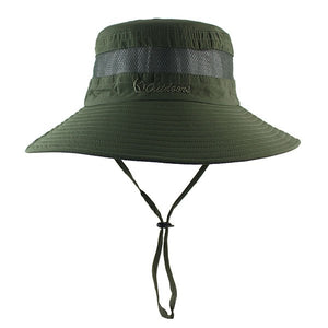 2c3728de Lightweig Breathable Mesh Summer Bucket Hat Beach Women Man Wide Brim Sun  Gorra Mujer Men's Outdoors