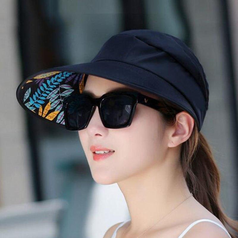 Hot Sale Foldable Sun Hats Summer Beach Anti-UV Wide Large Brim Floppy Collapsible Cap Women Men Accessories Gifts