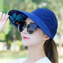 Load image into Gallery viewer, Hot Sale Foldable Sun Hats Summer Beach Anti-UV Wide Large Brim Floppy Collapsible Cap Women Men Accessories Gifts