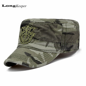 e3f45dd5d795f LongKeeper Tactical Caps for Men Flat Top Army Hats Army Baseball Caps  Retro Vintage Adjustable Hat
