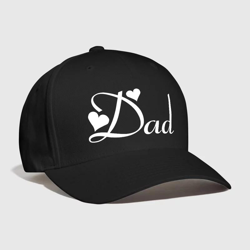 Love Dad Embroidered Customized Handmade Father's day Gift Idea Present Shop design Personallize Outdoor Sports Curved Daddy hat