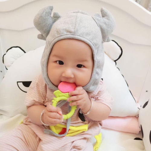 Lovely Infant Toddler Baby Accessories Winter Warm beanies Hat Hat Cotton Unisex Girls Boys Strap Earflap Cap