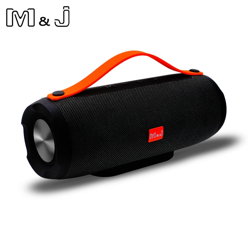 M&J E13 Bluetooth Speaker Wireless Portable Stereo Sound Deep Bass 10W  System MP3 Music Audio AUX With Mic For Android iphone Pc