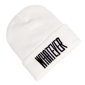 MAKE Hot Winter Whatever Beanie Hat And Snapback Men And Women Cap (White) a89f0375f9