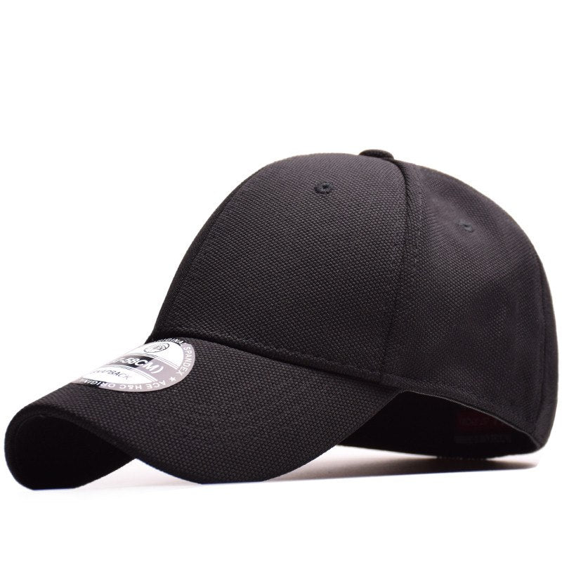 High Quality 100% Cotton Baseball Cap Flexfit Fitted Closed Full Cap Men Sport Hats Polo Hats