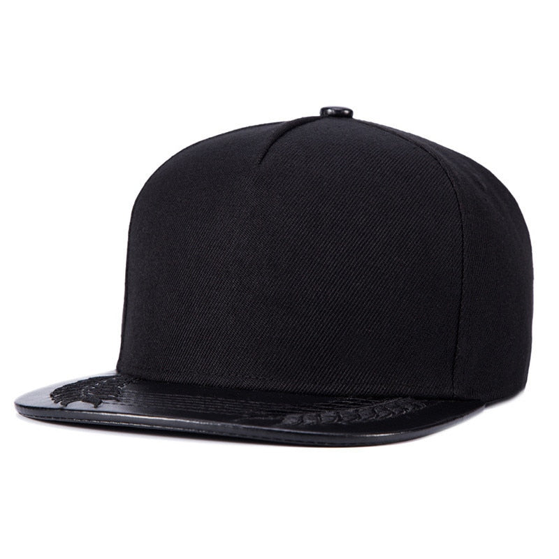 MOCH New Baseball Caps Hip Hop Snapbacks Wheat Bones Black Mens Full Plain Hat