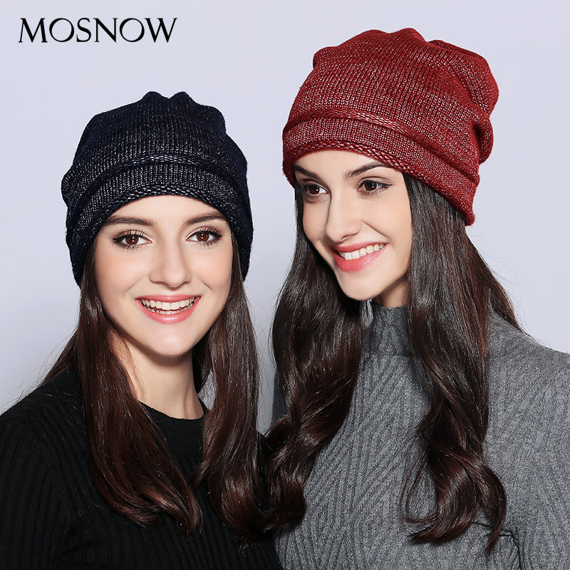 Hats For Women Unique Design Wo Knitted 2020 Autu Winter Brand New Shining Warm Hat Female Skullies Beanies  #MZ703