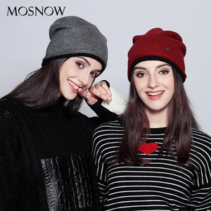 Wo Winter Hats For Women Elegant Double Layer Extra Thick Knitted Fashion New 2020 Hat Female Skullies Beanies #MZ724