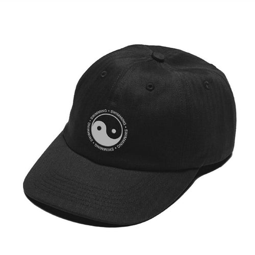 Mac Miller Hat Swimming Yin Yang Design Embroidered 100% Cot Dad Hat High Quality Baseball Cap For Men And Women Dropshipping