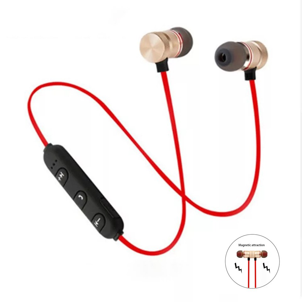 Magnetic Bluetooth Earphones Sports In Ear Headsets Stereo Music Headphones With Microphone For   Android IPhone PC