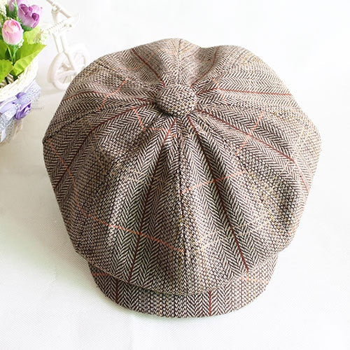 Male fashion octagonal cap newsboy cap beret hat autu and winter female ivy cap men free shipping
