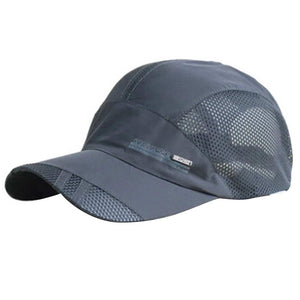 Man Hats Korean Summer Men Hat Outdoor Sport Mesh Breathable Baseball Cap Quick Dry Sunscreen shop -Hot