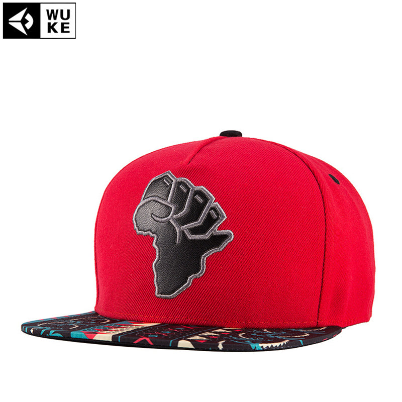 Map Of Africa Red Color Canvas Cot Adjustable Snapback Caps For Men Women Sports Hats Basketball Baseball Caps High Quality