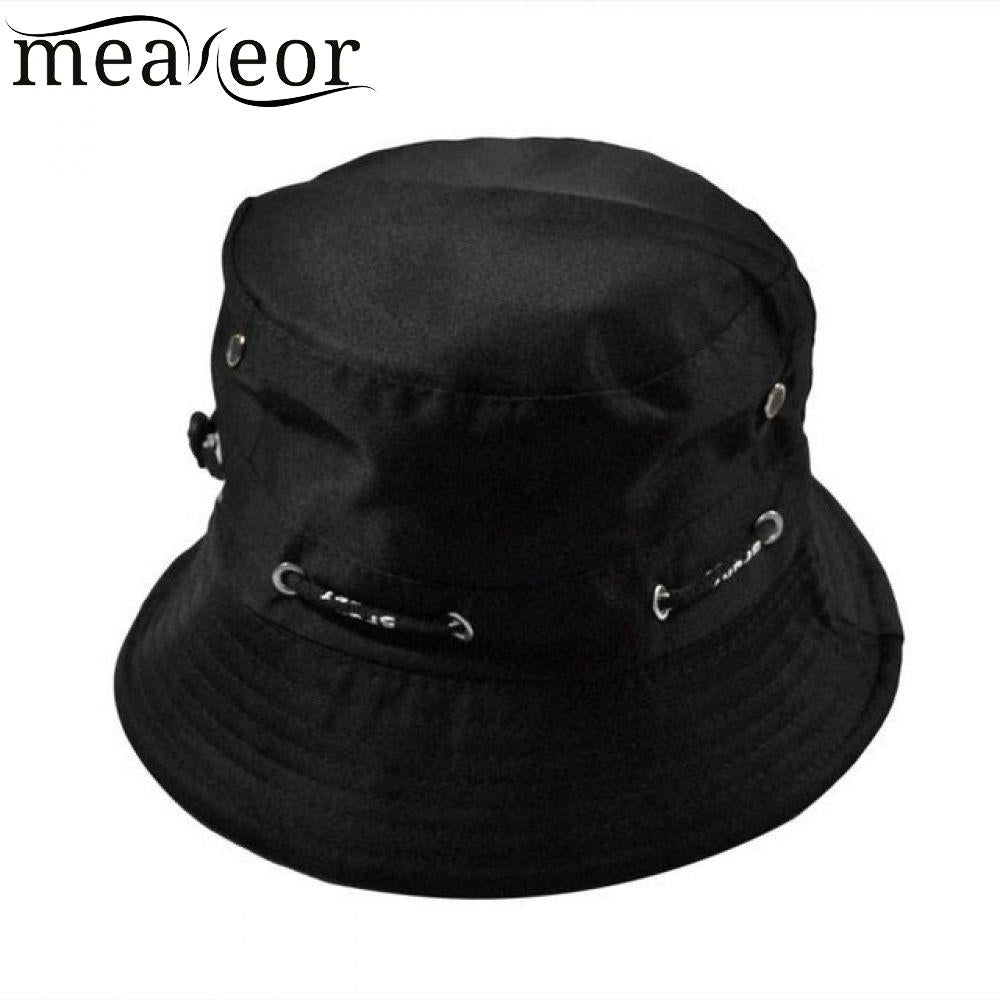 aad3e31753a Meaneor Solid Girls Caps Fashion Men Women Unisex Cotton Bucket Hat ...
