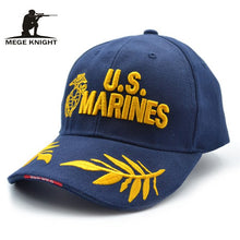 Load image into Gallery viewer, Mege Brand Summer Baseball Cap Men Tactical Fashion Design with Embroidery US Marines Army Hat Khaki/Black/Navy Cap