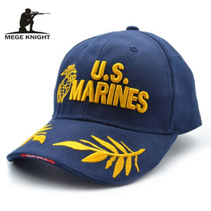 Mege Brand Summer Baseball Cap Men Tactical Fashion Design with Embroidery US Marines Army Hat Khaki/Black/Navy Cap