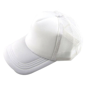 Men Adjustable Baseball Cap Mesh Plain Color Cap Trucker Hat Blank Curved Hat