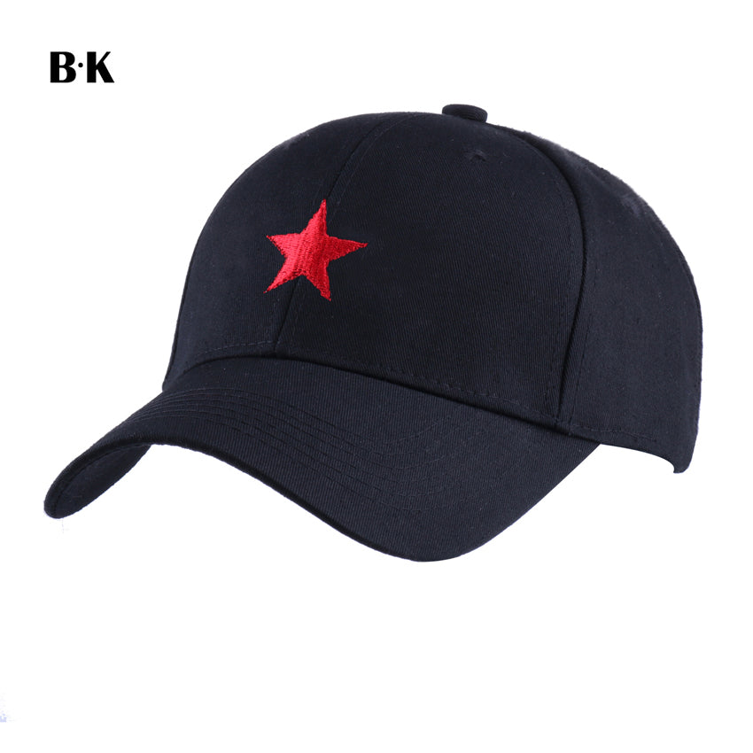 Men Baseball Cap Cot Snapback Hat for Women Embroidery Red Star Fitted Hip Hop Cap Vintage Miliary Cap Outdoor Sun Hats