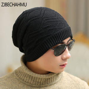 Men Beanie Winter Hats Cap Mens Women Stocking Hat Beanies stripe Knitted  Hiphop Hat male Female e5db4e4258e
