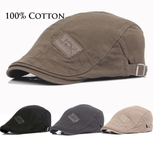 Men Classic Flax Cap Newsboy Ivy Hat Golf Driving Sun Flat Cabbie Ventair Hats Hot Co Handsome Solid Color Peak Cap