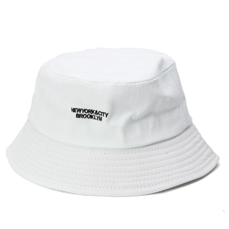 5b11f3acafe8f Men Cotton Bucket Hats For Women Plain Embroidery Letter Caps Fashion –  oePPeo - Master of Caps   Hats