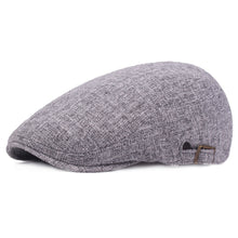Load image into Gallery viewer, Men Linen Cotton Golf Driving Beret Cabbie Hat Newsboy Flat Ivy Sun Summer Cap HATCS0513