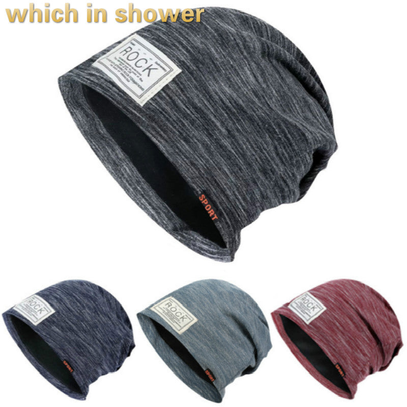 Men Turban Hat Cot Fall Skullies Beanie Outdoor Sports Male Stocking Cap Casual Winter Hip Hop Hat Cap