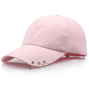 Men Women Baseball Cap Bboy Adjustable Casual Snapback Sport Hip-Hop Ball Hat Baseball Caps Black Pink White