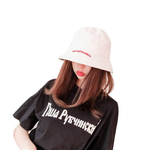 d3aab8282d6 Men Women Cotton Street Hip Hop Bucket Hat 2018 Fashion Letter Embroidery  Fisherman Hats Fishing Cap Fashion sun Bucket Hat