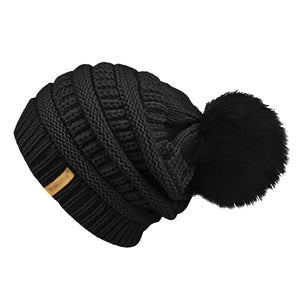 bce42dd5c Men Women Hat Male And Female Letters Standard Wo Hat Warm Fur Ball  Removable Cap Autu And Winter New Hot Sale Fashion