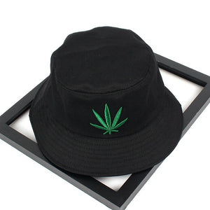 70453c38b7b Men Women Maple Leaf Bucket Hat Hip Hop Fisherman Panama Hats Embroidery  Cotton Outdoor Summer Casual Swag Bob Visor Bucket Cap