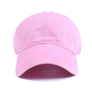Men Women Plain Polo Style Cotton Adjustable casquette Baseball Cap  Leisure bone Snapback hat Washed Blank Solid Hat