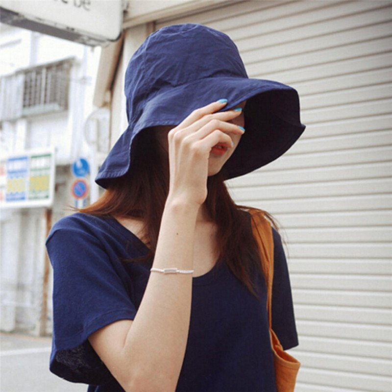 Men Women Travel Sun Hat Female Male Fisherman Cap Black Spring Summer Women Hat Unisex Flat Cot Bucket Hat