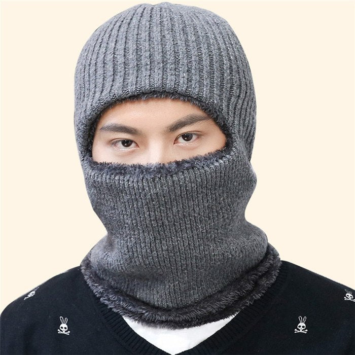 Men knitted wo Skullies Beanies autumn winter velvet bonnet Korean adult fashion navy blue gray black khaki Hat cap