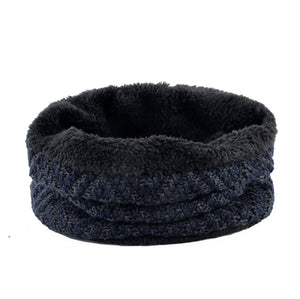Men's Hat And Scarf Sets Winter Knitted Thick Bonnet Caps Men Add Velvet Beanies Hats Scarves Set Knitting Warm Skullies Gorro